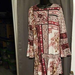 Beige by eci tunic dress size M